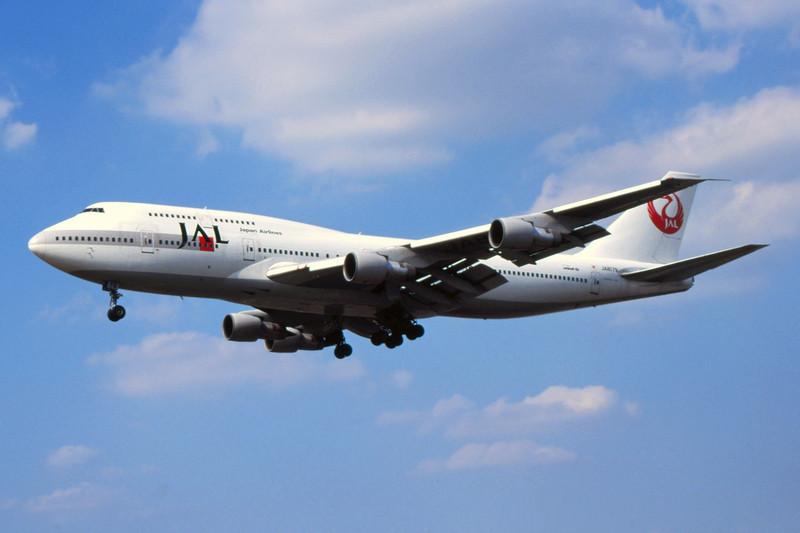 JA8179 Boeing 747-346 c/n 23640 Heathrow/EGLL/LHR 07-07-99 (35mm slide)