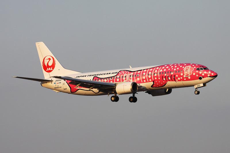 """JA8992 Boeing 737-446 c/n 27917 Fukuoka/RJFF/FUK 11-01-14 """"Sakura Jinbei"""""""