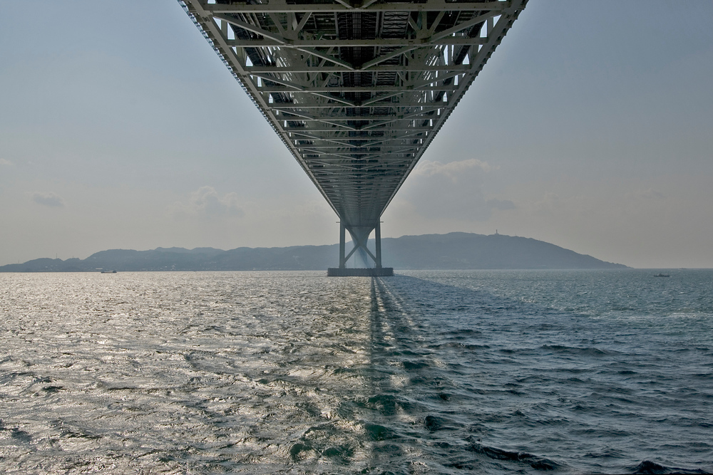 Under the Akashi-Kaikyo Bridge - Kobe, Japan
