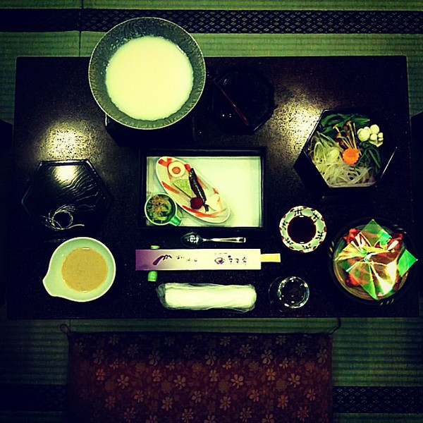 Kaiseki dinner, opening courses. One of life's most exceptional culinary experiences - Yamanaka Lake, Japan #dna2japan #gadv #foodie