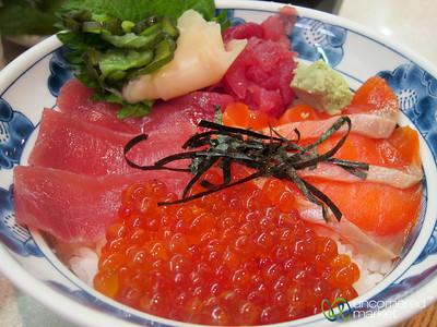 Donburi (Rice Bowl) with Sashimi - Tokyo, Japan