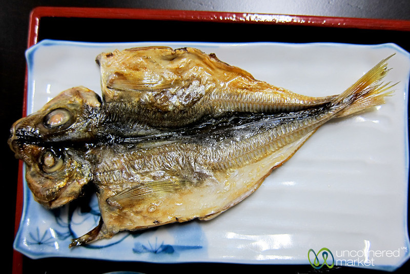 Dried Fish for Breakfast - Takayama, Japan
