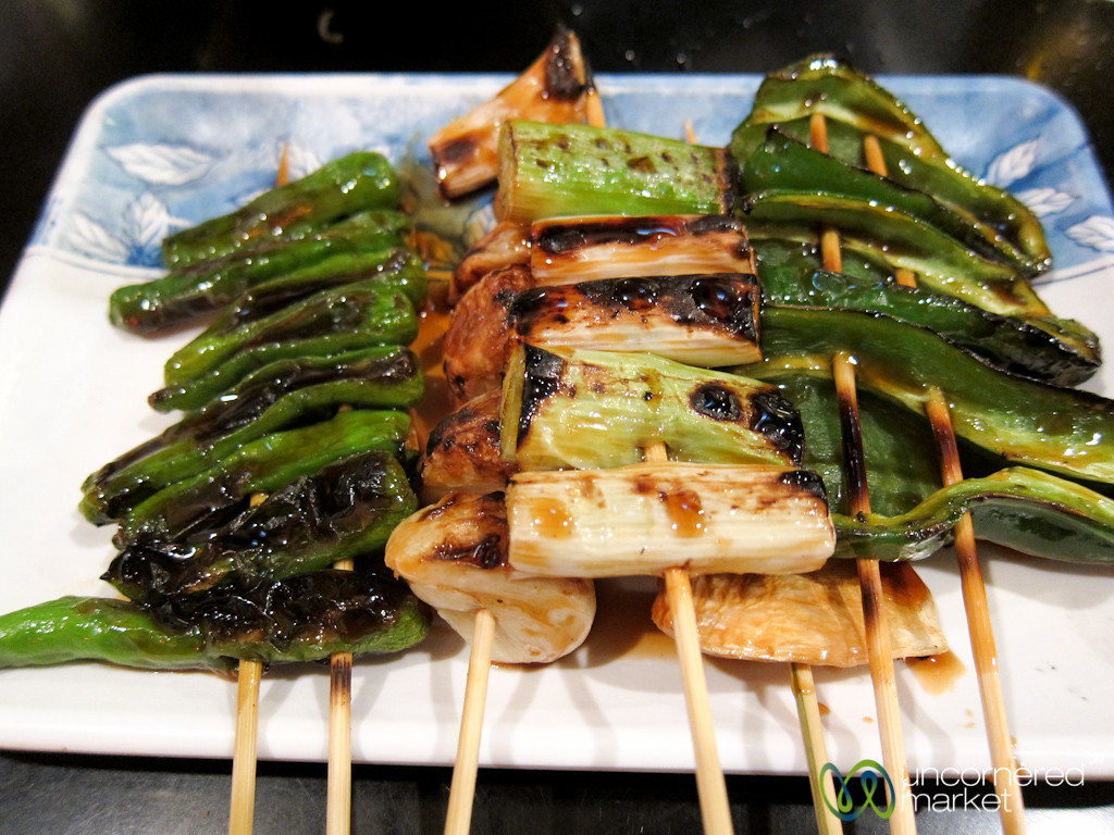 Skewered Vegetables, Japanese Style - Tokyo, Japan