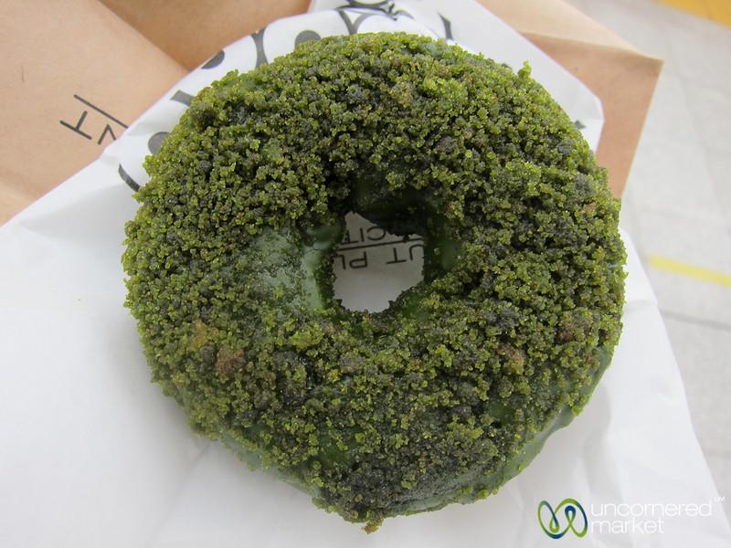 Green Tea Donut at Shinjuku Station - Tokyo, Japan