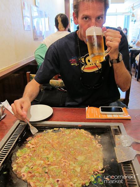 Monjayaki Cooking with Dan - Tokyo, Japan