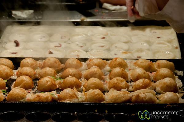 TakoYaki in the Making - Nishiki Market, Kyoto