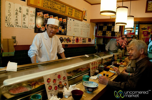 Sushi Breakfast at Tsukiji Market - Tokyo, Japan