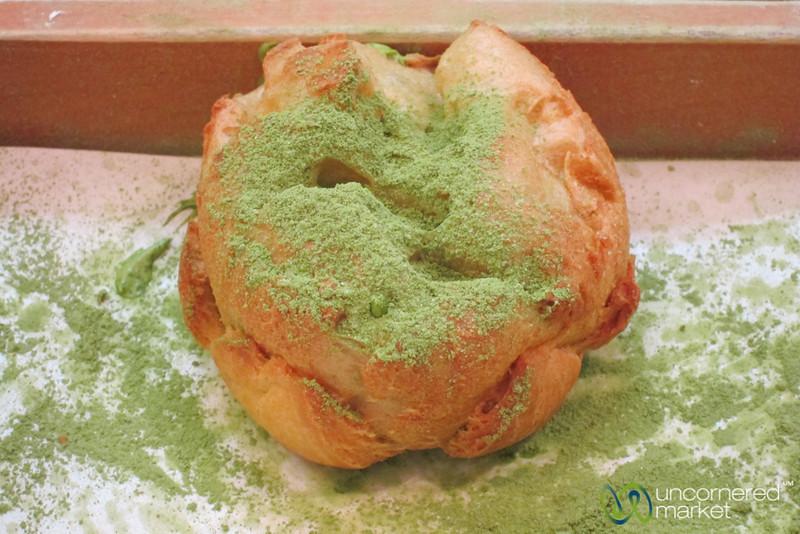 Beard Papa Green Tea Cream Puff - Osaka, Japan