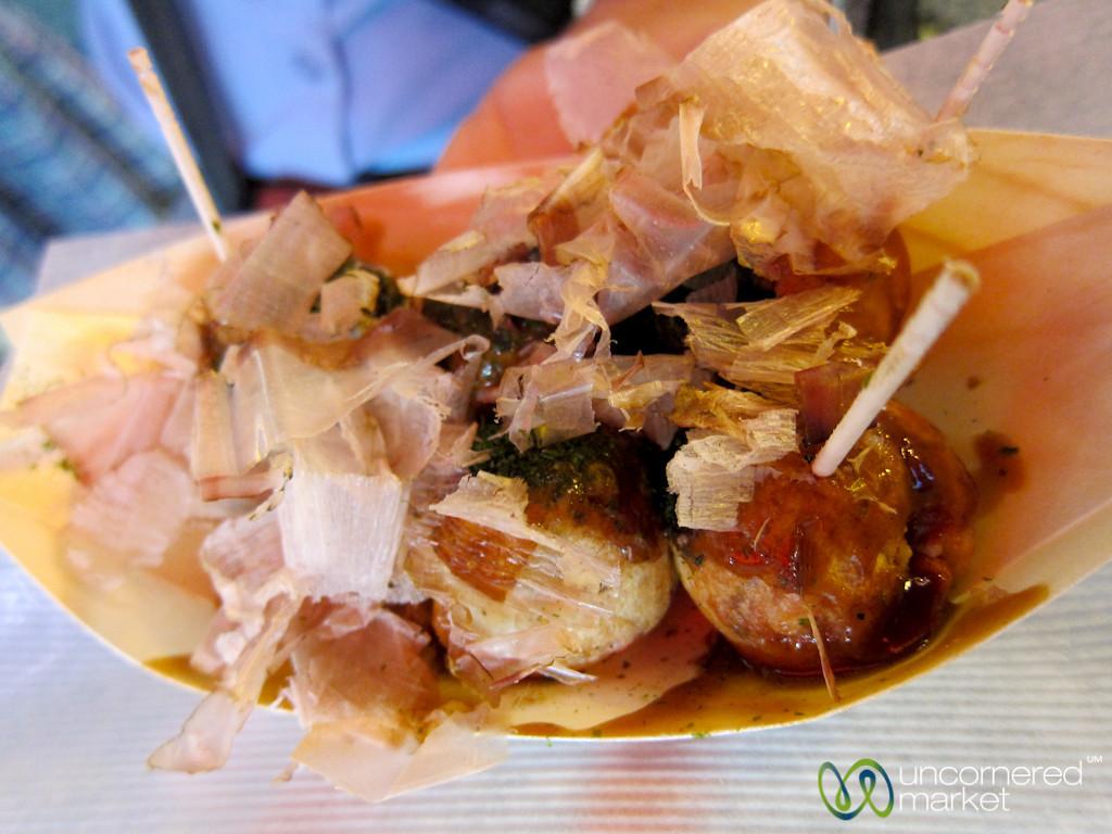 Takoyaki on Streets of Osaka, Japan