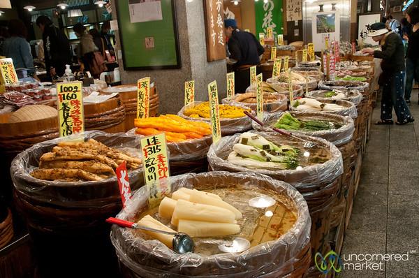 Nishiki Market Pickled Vegetables - Kyoto, Japan