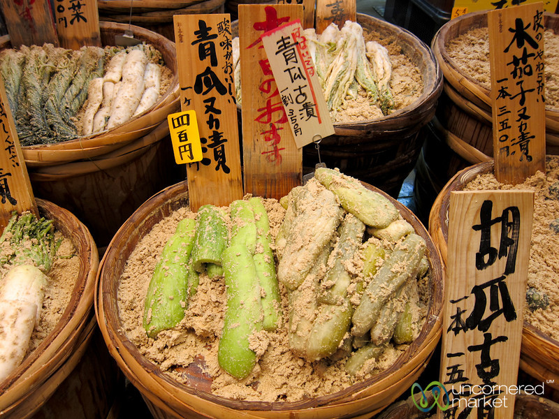Pickled Vegetables at Nishiki Market - Kyoto, Japan