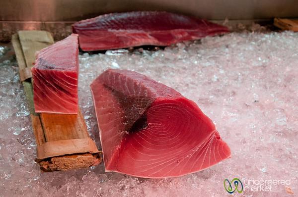 Deep Red Raw Tuna - Tsukiji Fish Market, Tokyo