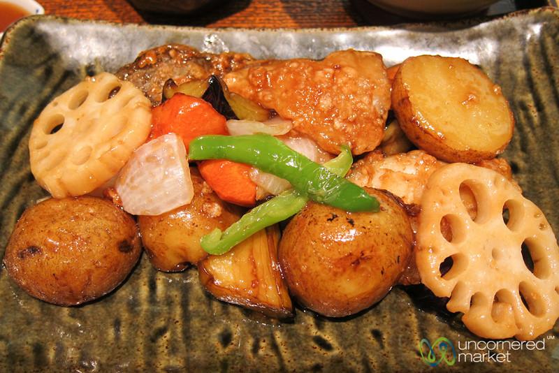 Vegetables and Fish at Ootaya - Tokyo, Japan