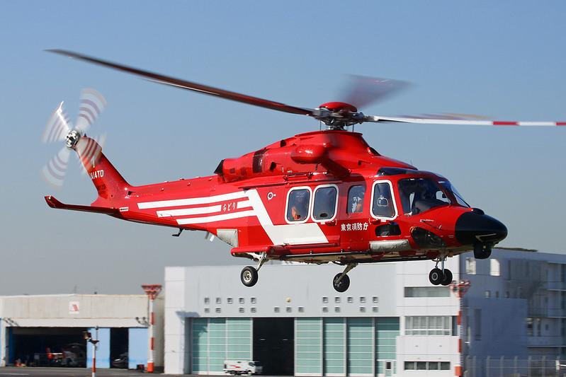 JA14TD AgustaWestland AW139 c/n 41518 Tokyo-Heliport/RJTI 26-10-17