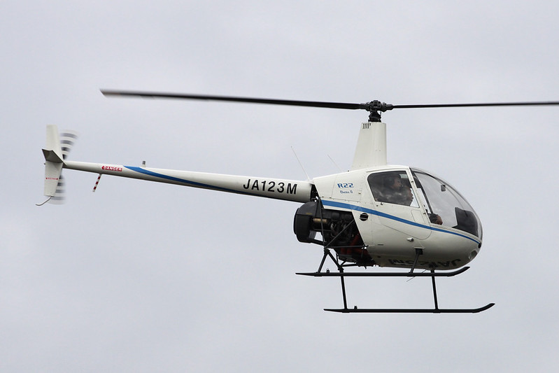 JA123M Robinson R22 Beta II c/n 3456 Yao/RJOY 24-10-17