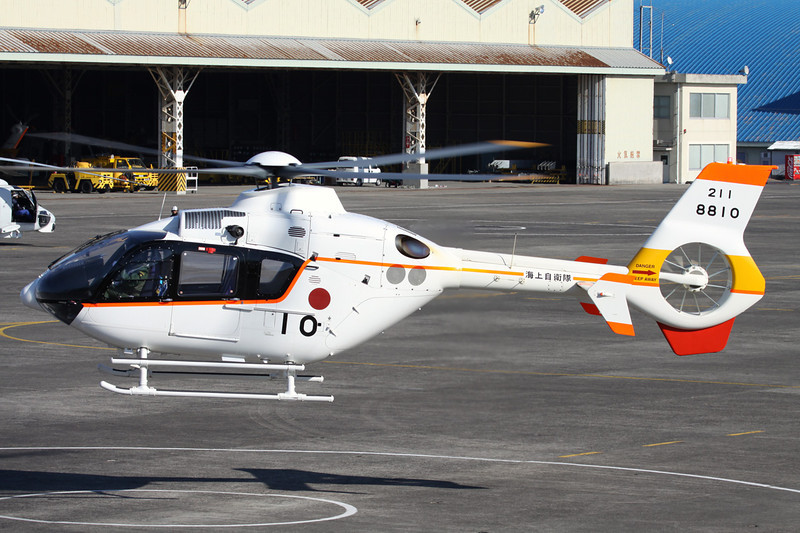 "8810 Eurocopter TH-135 ""JMSDF"" c/n 1068 Kanoya/RJFY 16-01-14"
