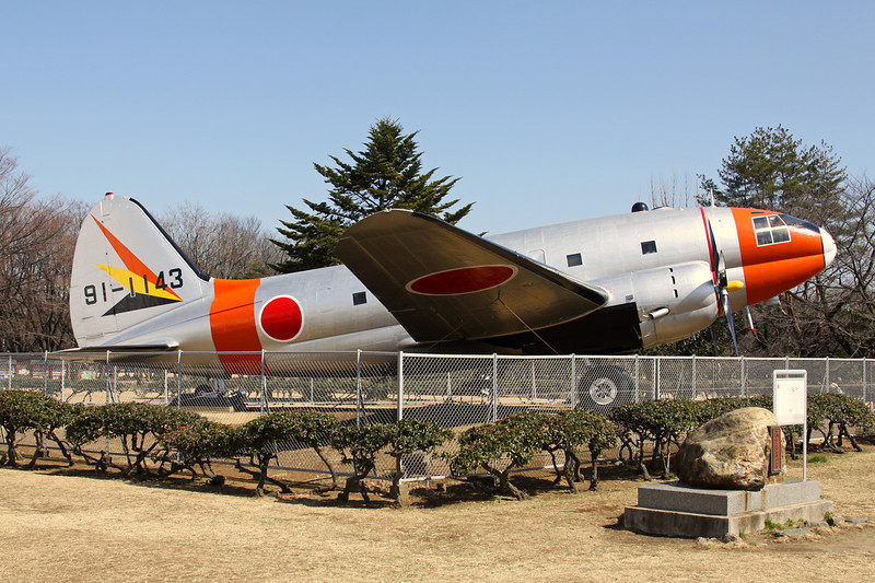 91-1143 Curtiss EC-46 A-60-CK Commando c/n 293 Tokorozawa 06-03-13