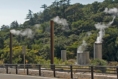 Steam vents spotted inside the Kirishima National Park in Japan