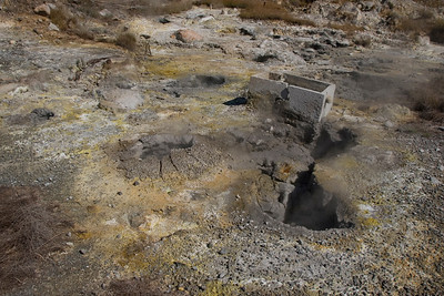 Close look at sulfur soil in Kagoshima, Japan