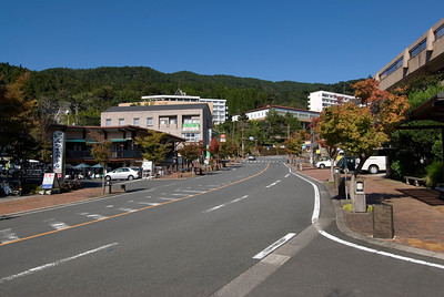 Street scene at Kirishima City in Kirishima, Japan