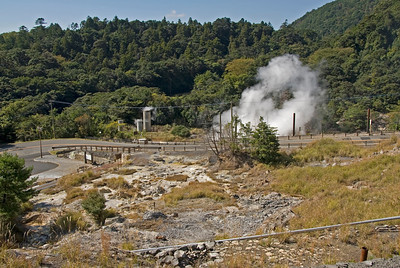 The hot spring in Kirishima Mountain in Kagoshima, Japan