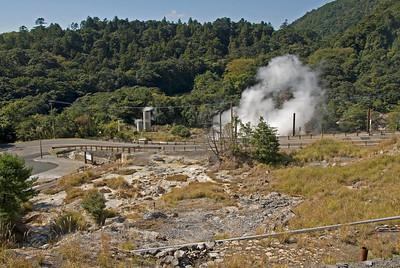 The hot spring in Kirishima Mountain in Kagoshima, Japan