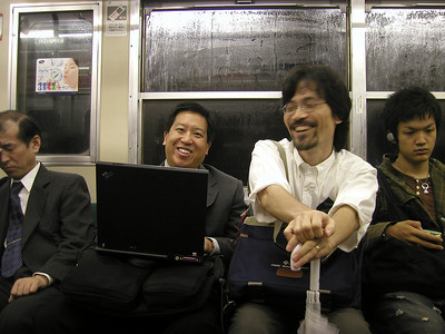 Oct 2004, Shirai-san and Jarvis for Epson meeting