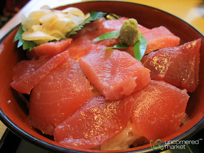 Tuna Sashimi and Rice (Don) - Kanazawa, Japan