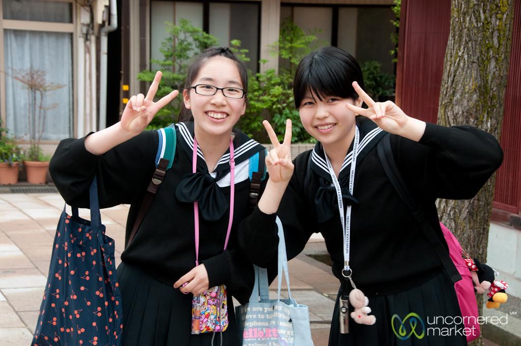 Japanese School Kids in Kanazawa, Japan