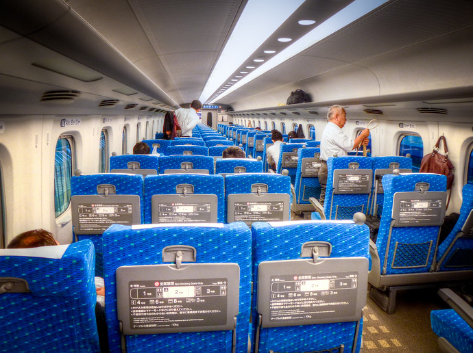 shinkansen train inside