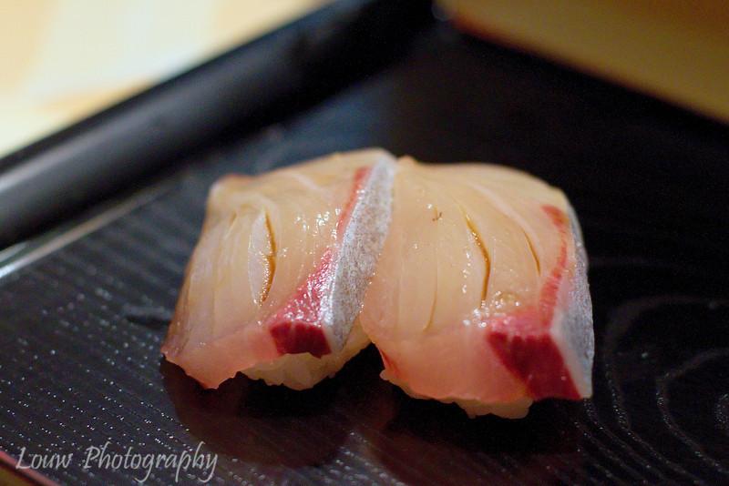 Sushi at Koyoshi Sushi, Osaka, Japan