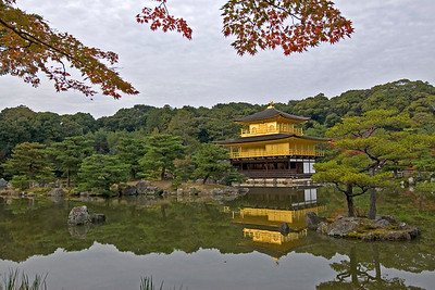 Golden Pavilion on a clear day in Kyoto, Japan