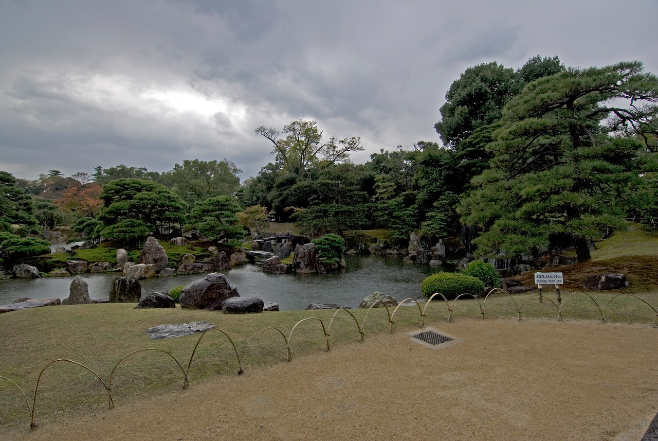 Nijo-jo Castle Garden in Kyoto, Japan
