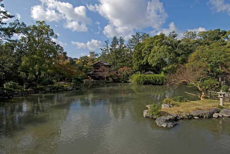 The serene Imperial Garden in Kyoto, Japan