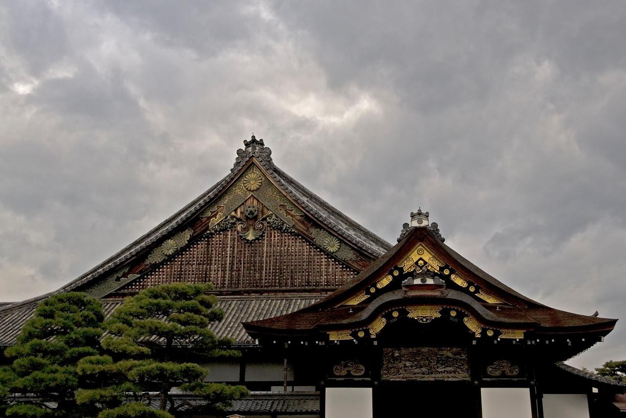 Rooftops of Nijo-jo Castle in Kyoto, Japan