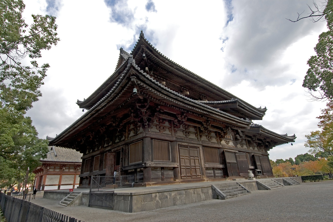 Close-up shot of Toji Temple in Kyoto, Japan