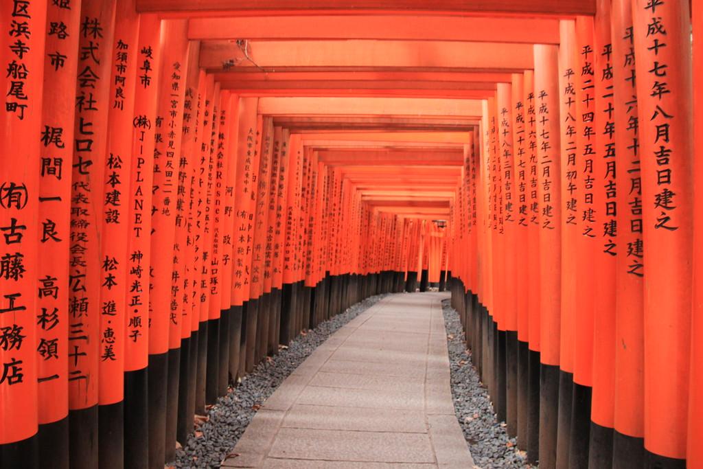 Fox Shrine Tori Gates - Kyoto, Japan - Photo