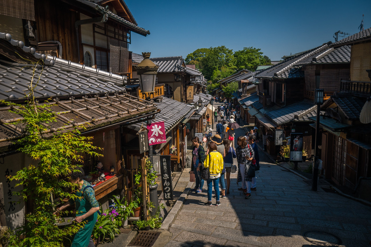 Leaving Kiyomizu-dera and exploring more of Kyoto