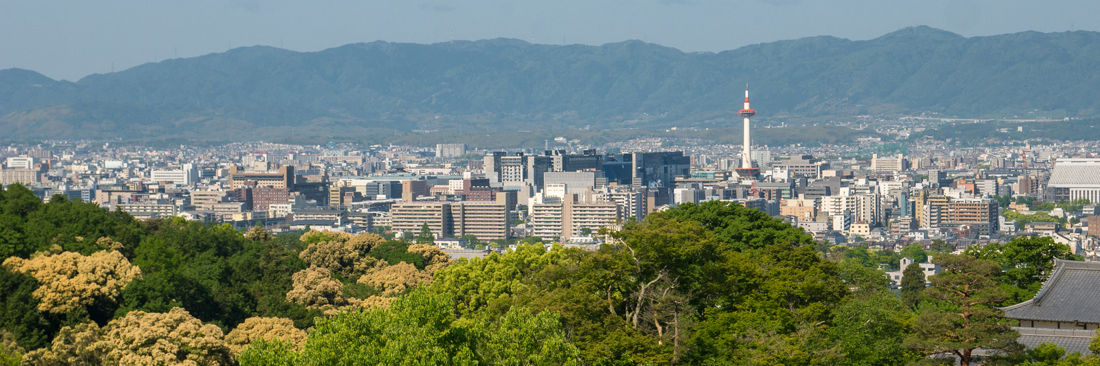Views of Kyoto from Kiyomizu-dera in Kyoto.