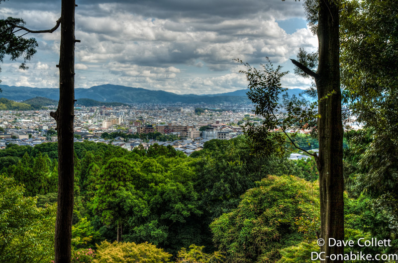 Looking oout over Kyoto
