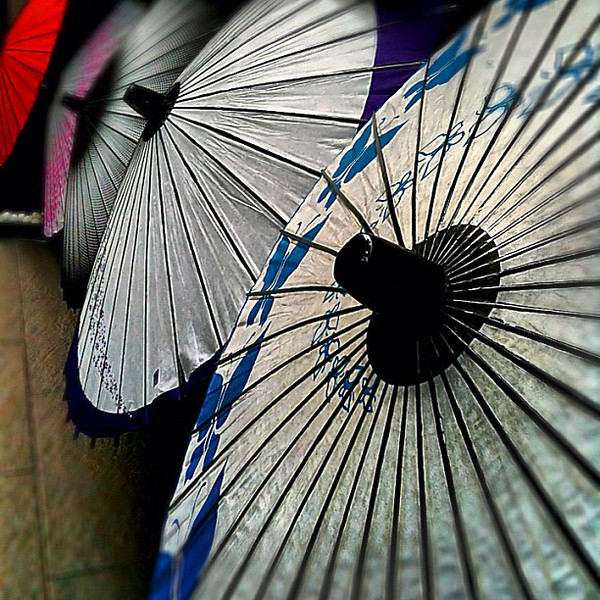 Japanese oil-paper umbrellas - Kyoto, #Japan #dna2japan #gadv