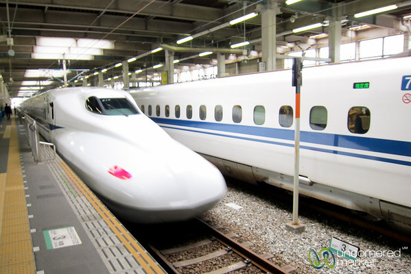 Bullet Train Coming Through Kyoto - Japan
