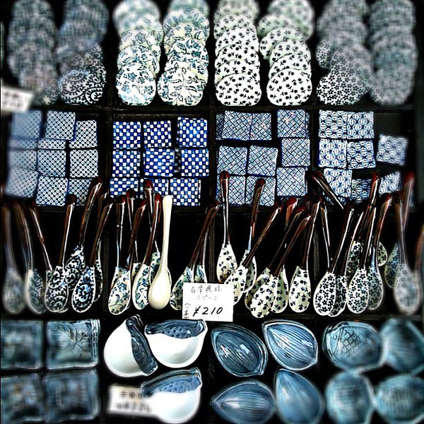 Japanese blues, ceramic design in Kyoto #dna2japan #gadv