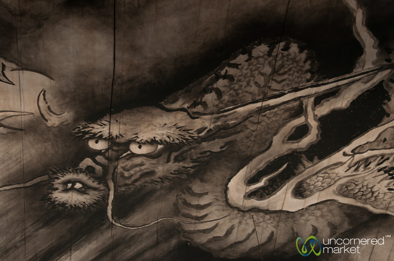 Dragon Painting at Tofuku-ji Temple - Kyoto, Japan