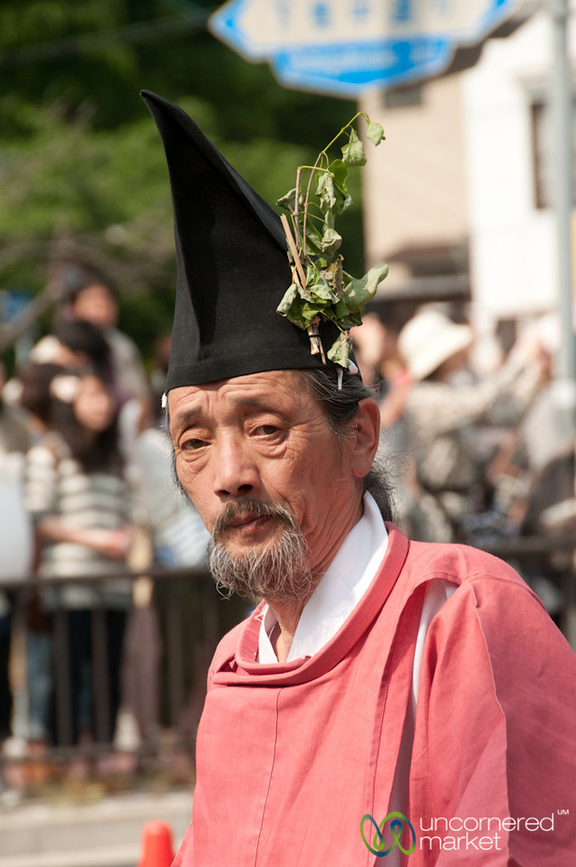 Older Japanese Man at Aoi Matsuri Festival - Kyoto, Japan