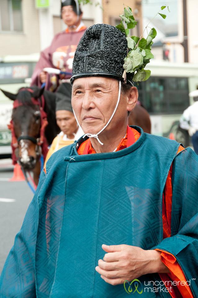 Older Japanese Man at Aoi Matsuri Festival - Kyoto, Japan