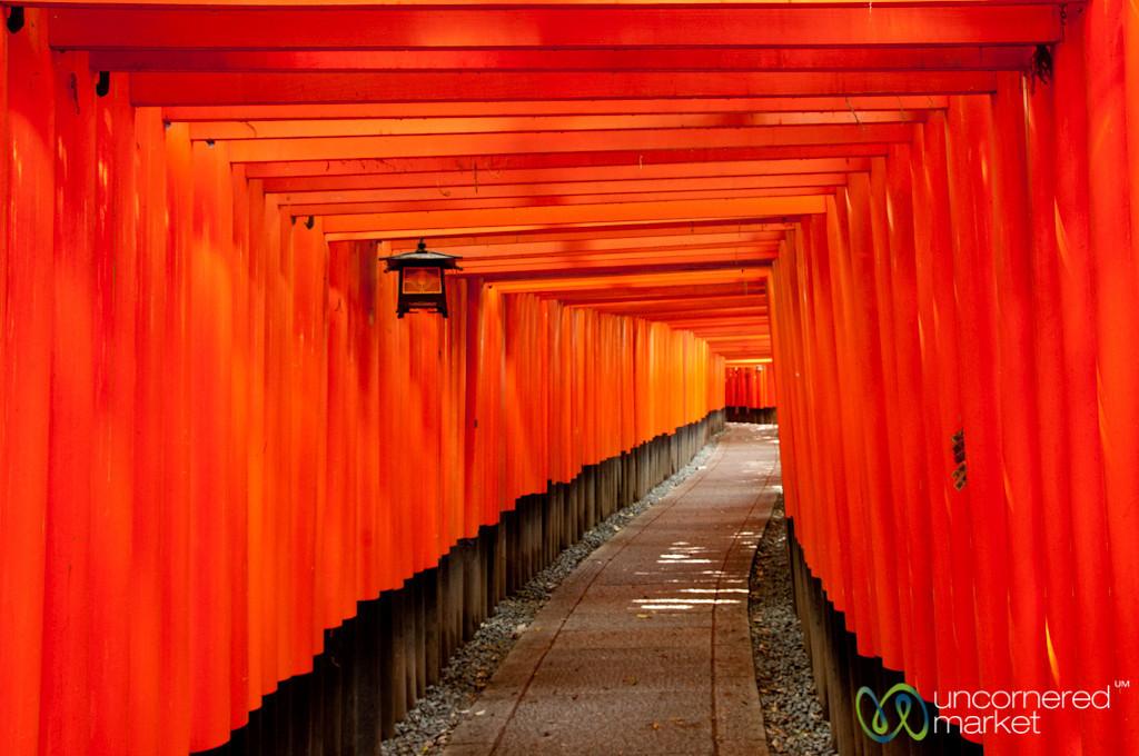 Vermillion Gates (Torii) at Fushimi Inari Shrine - Kyoto, Japan
