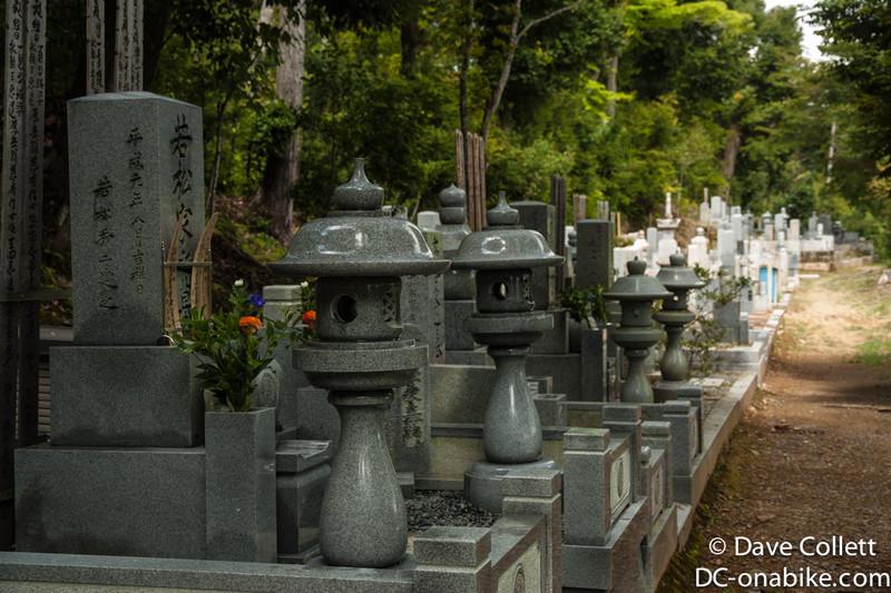 Line of headstones