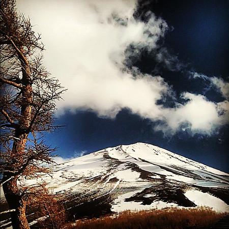 Mt. Fuji summit, from Station 5 #Japan #dna2japan #gadv