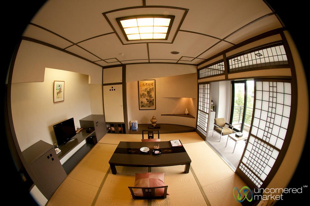Japanese Room in Ryokan (Japanese Inn) - Mount Fuji, Japan